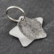Stainless steel fingerprint keychain