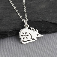 Year of the Rat Necklace - Sterling Silver - Chinese Zodiac Pendant