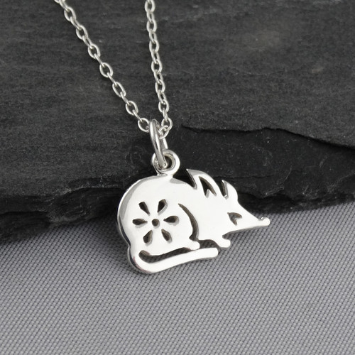 Year Of The Rat Necklace Sterling Silver