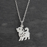 Year of the Dog Necklace - Sterling Silver - Chinese Zodiac Pendant
