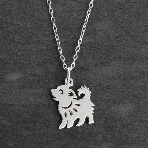 year of the dog necklace sterling silver