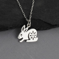 Year of the Rabbit Necklace - Sterling Silver - Chinese Zodiac Pendant
