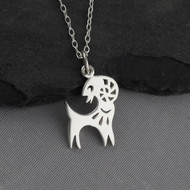 Year of the Goat Necklace - Sterling Silver - Chinese Zodiac Pendant