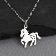 Year of the Horse Necklace - Sterling Silver - Chinese Zodiac Pendant