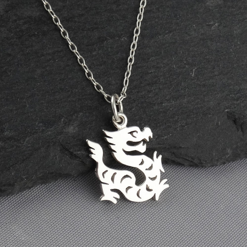 Engravable Chinese Zodiac Dog Tag Necklace: Year Of The Dragon Necklace