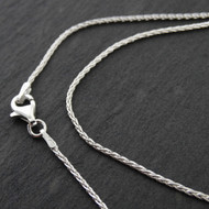 Sterling Silver SPIGA Wheat 1mm Chain Necklace