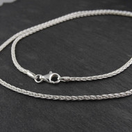 Sterling Silver SPIGA Wheat 2mm Chain Necklace