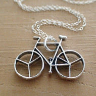 BICYCLE - Sterling Silver Charm Necklace