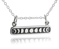Moon Phases Bar Necklace - 925 Sterling Silver