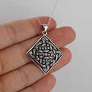 Celtic Knot Twist Necklace - 925 Sterling Silver