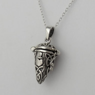 Celtic Trinity Knot Hinged Pendant Necklace - 925 Sterling Silver