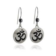 Sienna Sky Om Earrings - Sterling Silver Ear Wires, Ohm