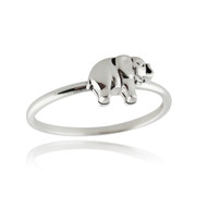 Tiny Elephant Ring - 925 Sterling Silver