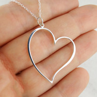 Heart Pendant Necklace - 925 Sterling Silver