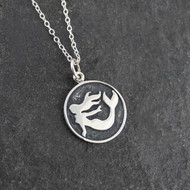 Mermaid Pendant Necklace - 925 Sterling Silver
