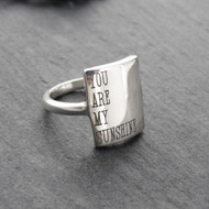 You Are My Sunshine Ring - 925 Sterling Silver Sizes 6-10