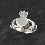 Claddagh Heart Poison Ring - Sterling Silver