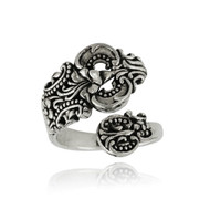 Ornate Spoon Ring - 925 Sterling Silver