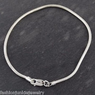 "7.5"" Sterling Silver 2mm Snake Chain Bracelet"