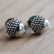 Acorn Earrings - 925 Sterling Silver