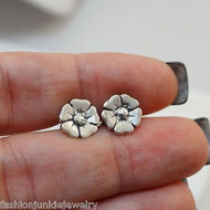 Flower Earrings - 925 Sterling Silver