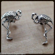 Flamingo Earrings - 925 Sterling Silver
