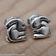 Bunny Earrings - Sterling Silver Post Earrings