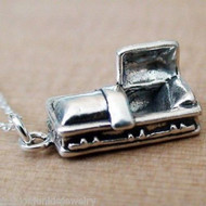 Casket Charm Necklace - 925 Sterling Silver