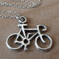 Bicycle Necklace - 925 Sterling Silver