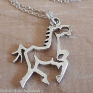 Trotting Horse Necklace - 925 Sterling Silver