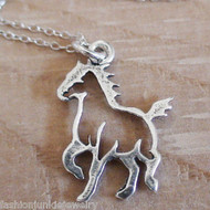 Horse Necklace - 925 Sterling Silver