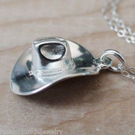 Cowboy Hat Necklace - 925 Sterling Silver