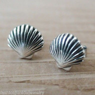 Shell Post Earrings - 925 Sterling Silver