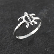 Sea Turtle Ring - 925 Sterling Silver, Sizes 6-10