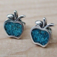 Apple Turquoise Earrings - 925 Sterling Silver