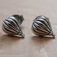 Hot Air Balloon Earrings - 925 Sterling Silver