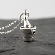 Champagne Bottle Necklace - 925 Sterling Silver