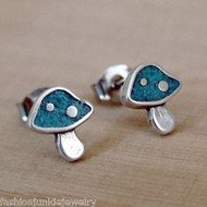 Mushroom Earrings - 925 Sterling Silver