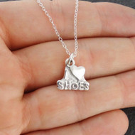 I Love Shoes Pendant Necklace - 925 Sterling Silver