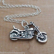 Motorcycle Necklace - 925 Sterling Silver