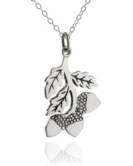 Acorn Tree Branch Necklace - 925 Sterling Silver
