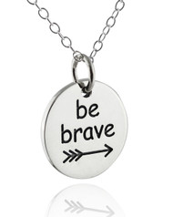 Be Brave Arrow Necklace - 925 Sterling Silver