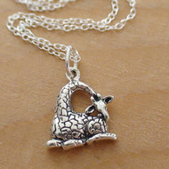 GIRAFFE - Sterling Silver Charm Necklace