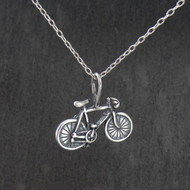 Bicycle Pendant Necklace - 925 Sterling Silver