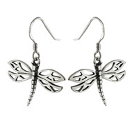 Dragonfly Earrings - 925 Sterling Silver