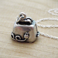 TOASTER - Sterling Silver Charm Necklace