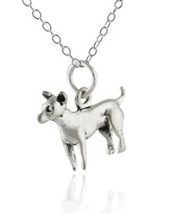 Chihuahua Dog Necklace - 925 Sterling Silver