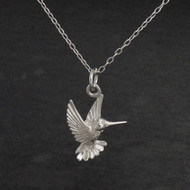 Hummingbird Pendant Necklace - 925 Sterling Silver