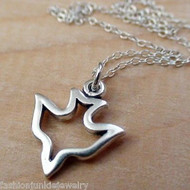 Dove Outline Necklace - 925 Sterling Silver