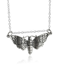 Death's Head Hawk Moth Necklace - 925 Sterling Silver